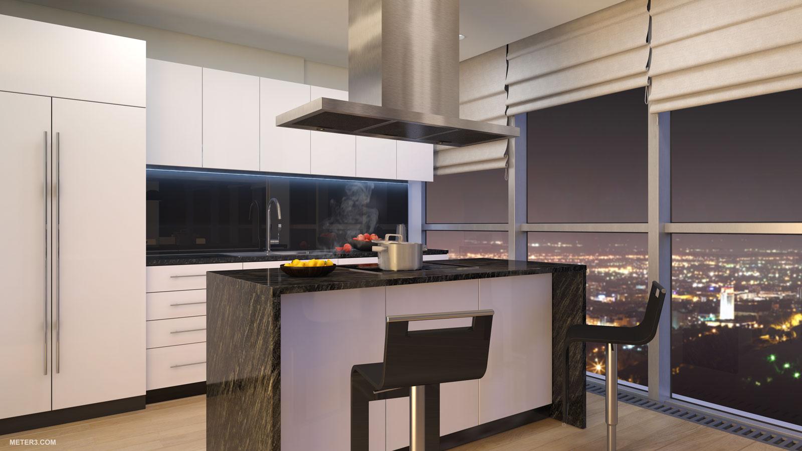 Turkey Penthouse Kitchen  Interior Design Ideas
