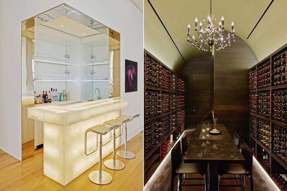 luxury home bar and wine cellar  Interior Design Ideas