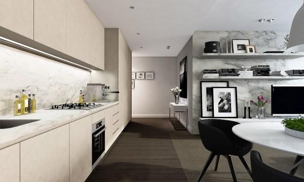 contemporary kitchen inspiration Studio Apartment Interiors Inspiration