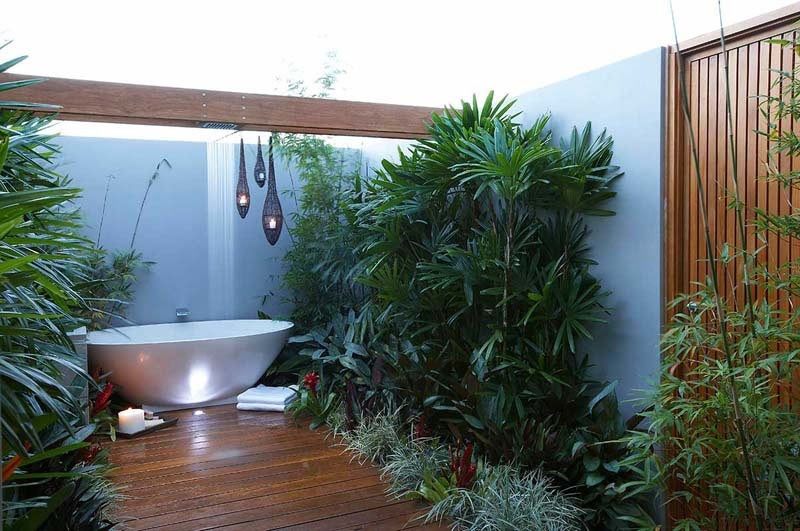 Tropical Garden Bathroom Interior Design Ideas