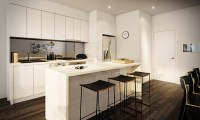 white apartment kitchen | Interior Design Ideas.
