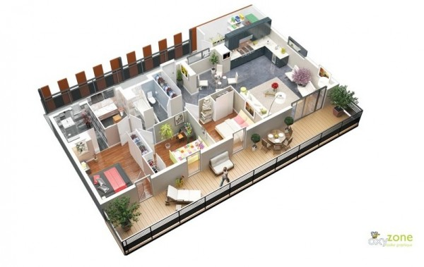 free 3 bedroom floor plans