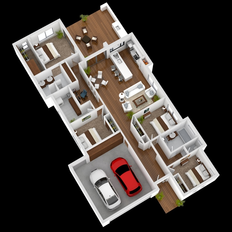 4 Bedroom Apartment House Plans