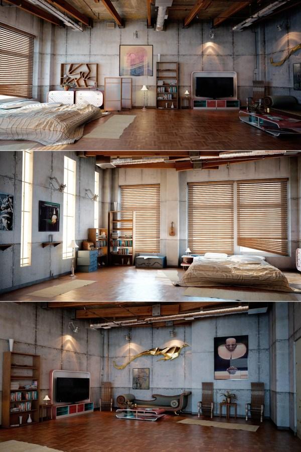 Industrial Loft Design Interior Ideas