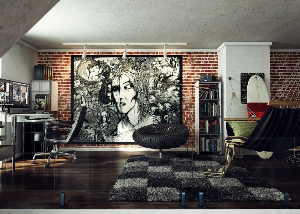 loft wall art work