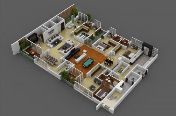 4 Bedroom House Designs 4 Bedroom House Designs B Brint Co