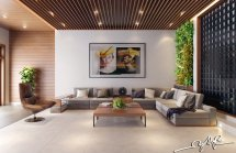 Interior Design Close Nature Rich Wood Themes And