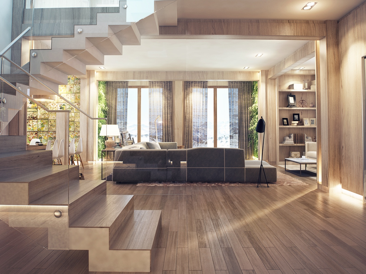 Interior Fancy Home Interior Floor With Engineered Or