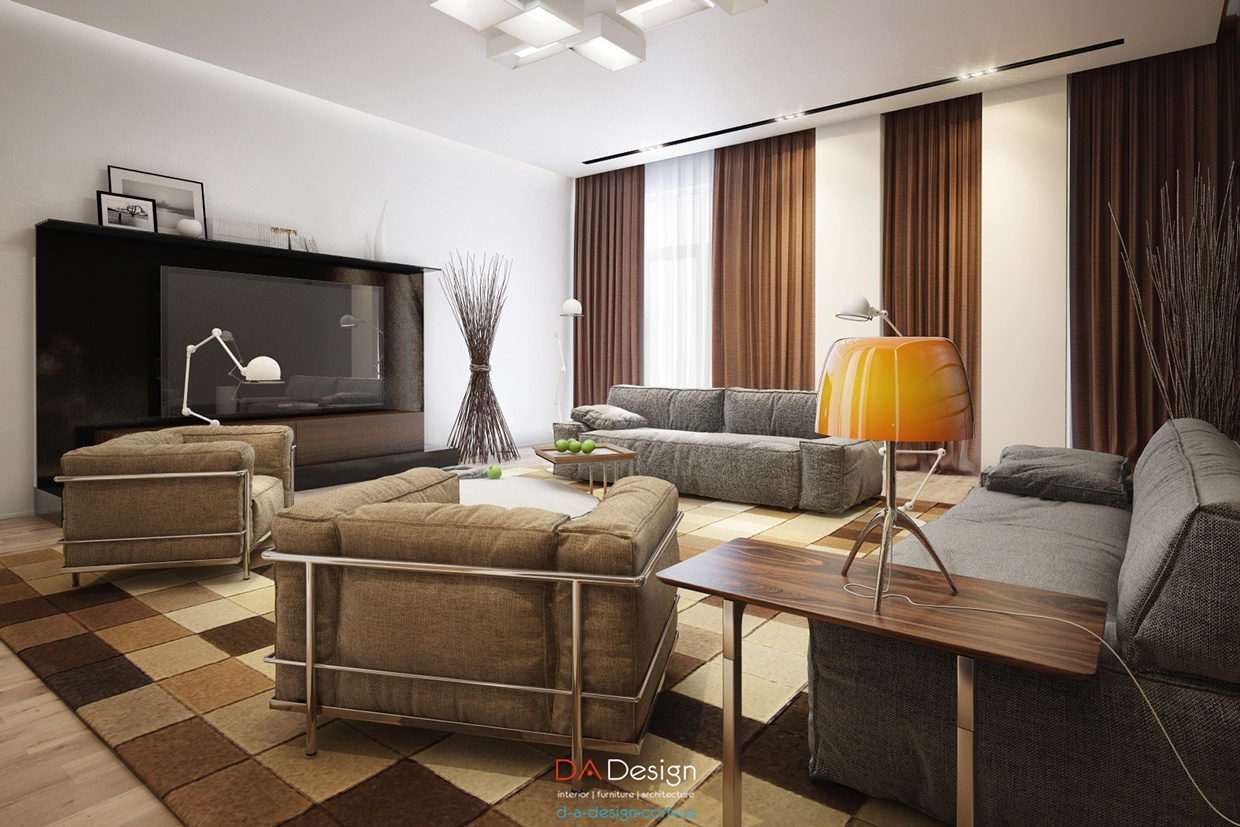 Corbusier Inspired Lounge Chairs Interior Design Ideas
