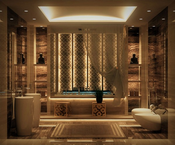 contemporary bathroom meaning