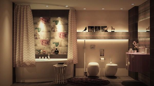 contemporary small bathrooms