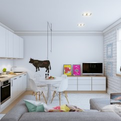 Small Open Plan Kitchen Living Room Layout Modern Lighting Images Home Interiors