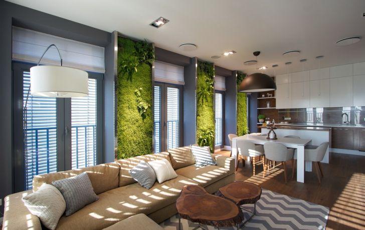 Interior Design: Interior Garden Room Design. Vertical Garden Walls Add Life To Apartment Interior Full Hd Room Design For Pc Pics Living Design Bring Vibrant A Contemporary
