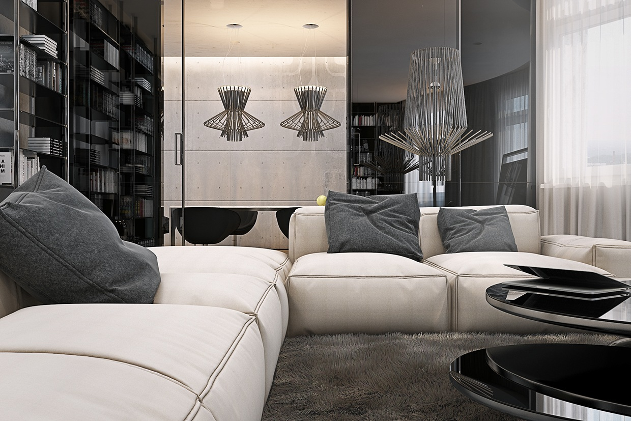 sleek sofa sets for small flats in mumbai carlyle reviews 4 masculine apartments with super comfy sofas and