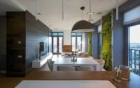 Vertical Garden Walls Add Life to Apartment Interior