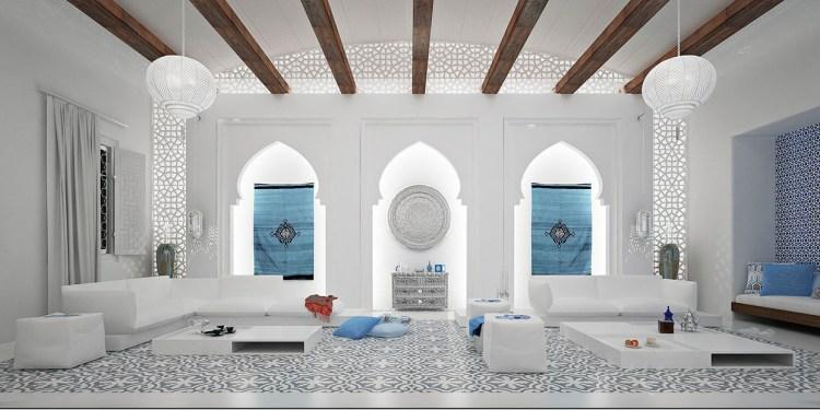 White Moroccan Styleinterior Design Ideas
