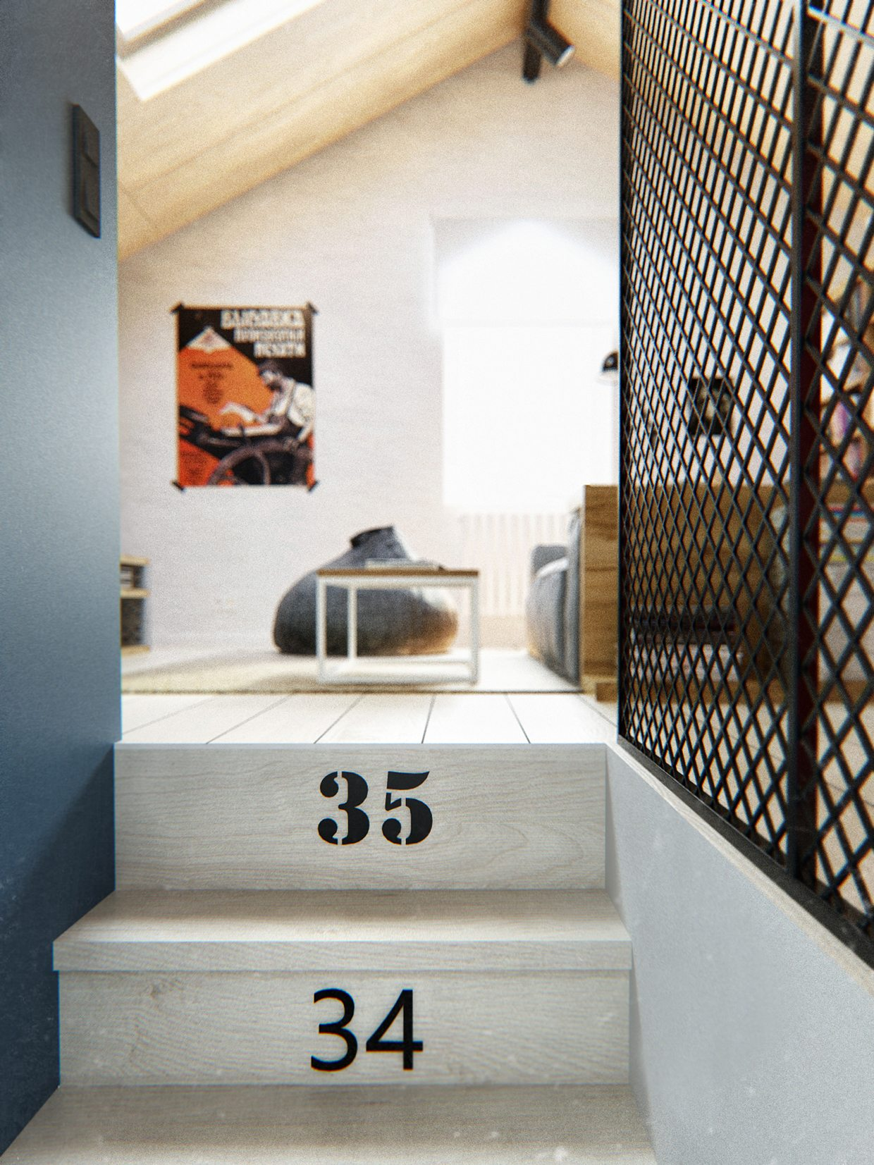 Duplex Penthouse With Scandinavian Aesthetics  Industrial
