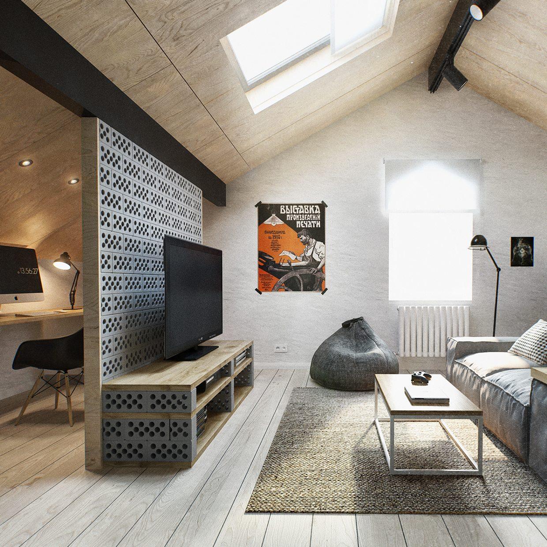 Duplex Penthouse With Scandinavian Aesthetics  Industrial Elements
