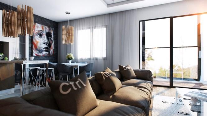 Cool Artsy Apartment Interior Design Ideas
