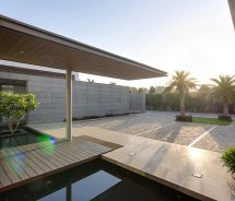 Modern Water Feature with Pool
