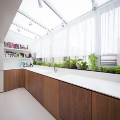 Contemporary Asian Living Room Design Rug Designs Atrium-kitchen   Interior Ideas.