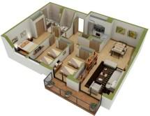 3D Home Floor Plans Layouts