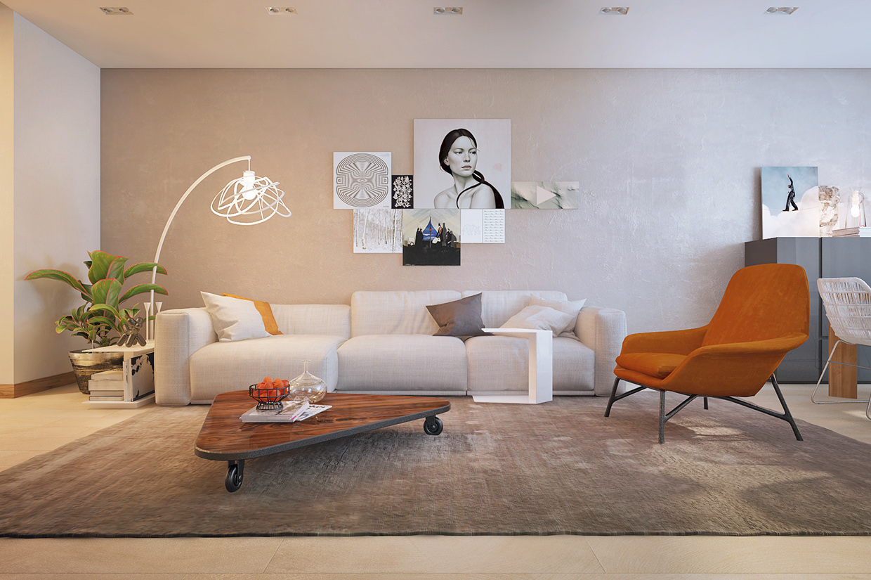 burntorangechair  Interior Design Ideas