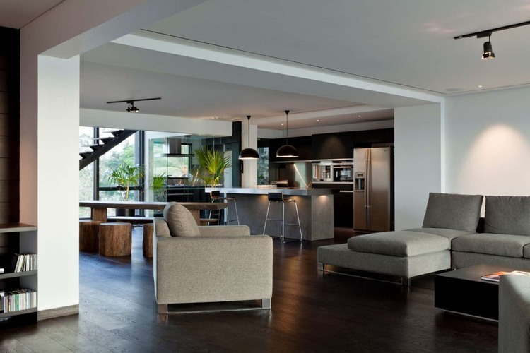 ceiling lights for living room india pictures of with gray walls villa in the sky: bollywood actor john abraham's penthouse ...