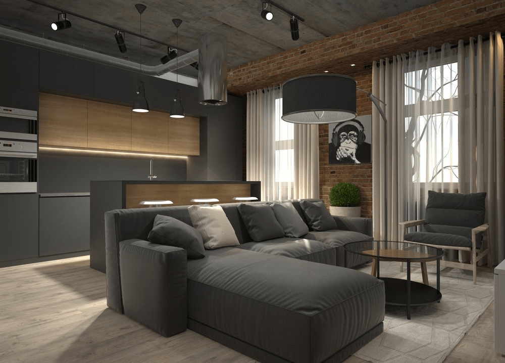 italian classic furniture living room rooms with dark leather 5 houses that put a modern twist on exposed brick
