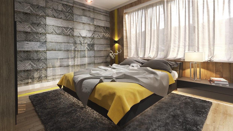 Grey And Mustard Bedroom Ideas