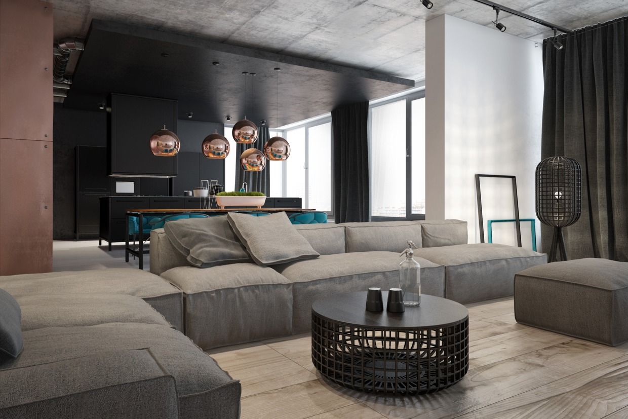 Big Sofa Christian Accentuate The Positive In Two Artful Apartments
