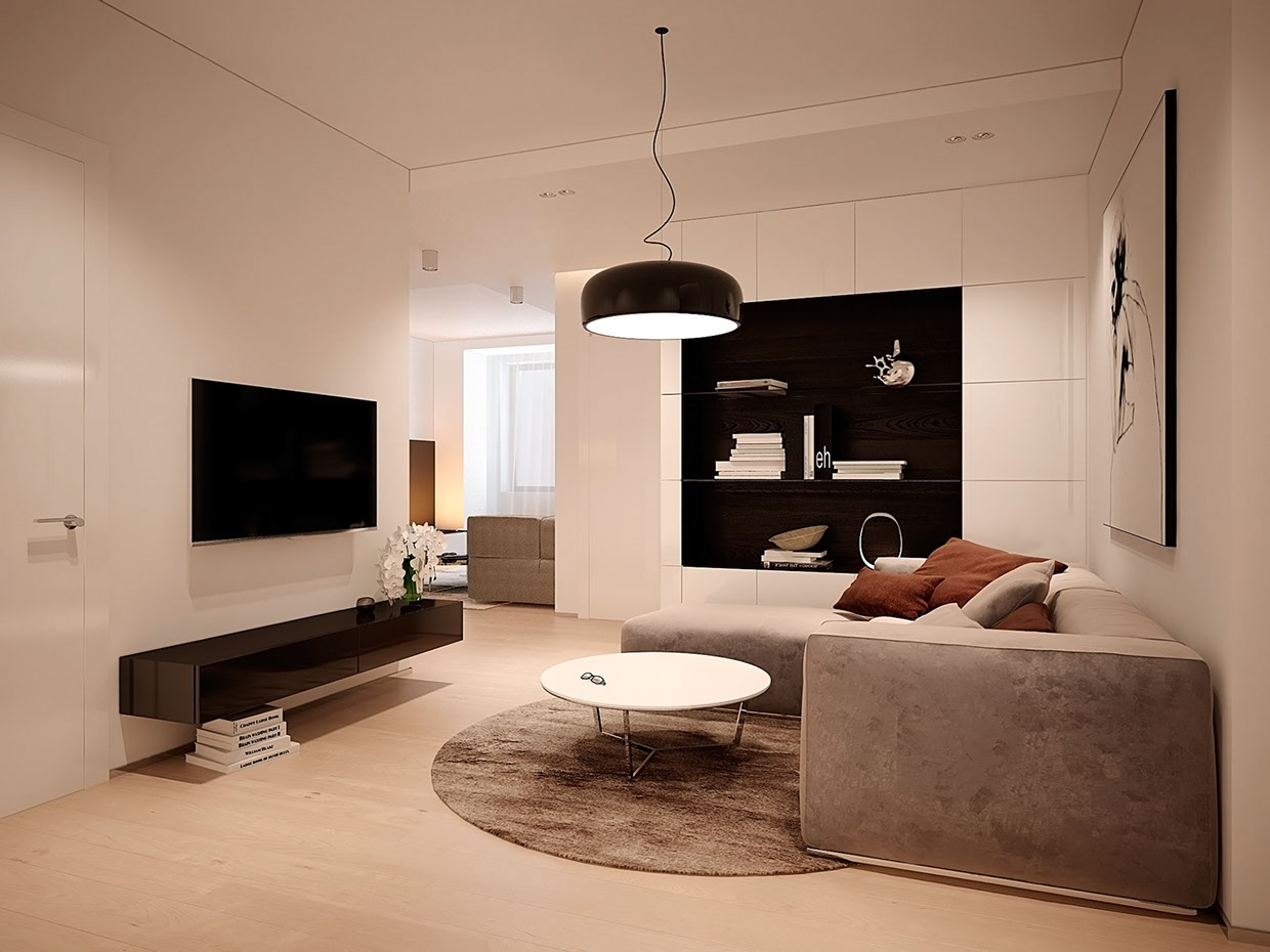 small living room with sectional sofa colour schemes for rooms brown leather soft-suede-sofa | interior design ideas.
