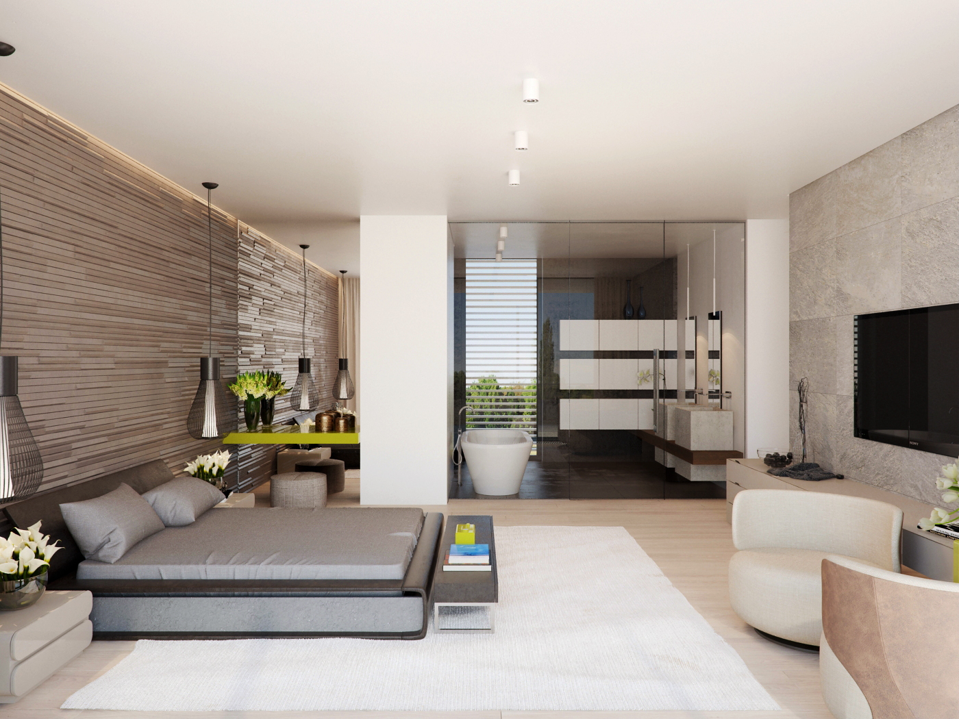 modernmasterbedroom  Interior Design Ideas