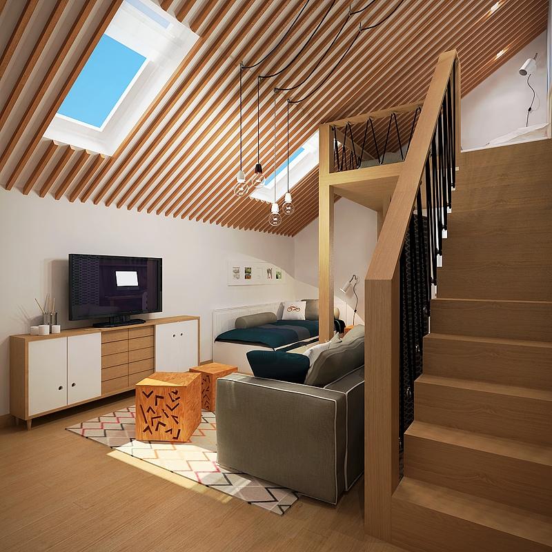 pitchedroofapartment  Interior Design Ideas