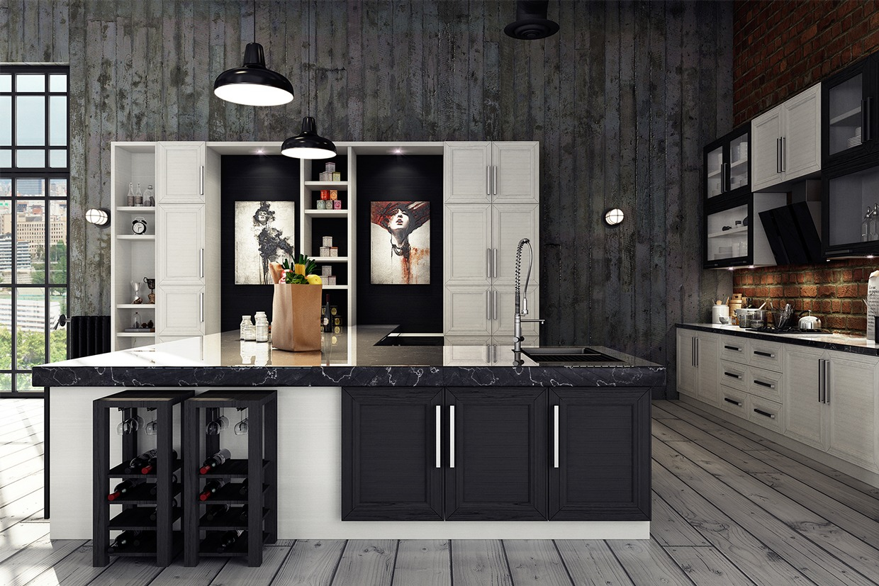 black metal kitchen cabinets curtains pinterest 3 stylish industrial inspired loft interiors