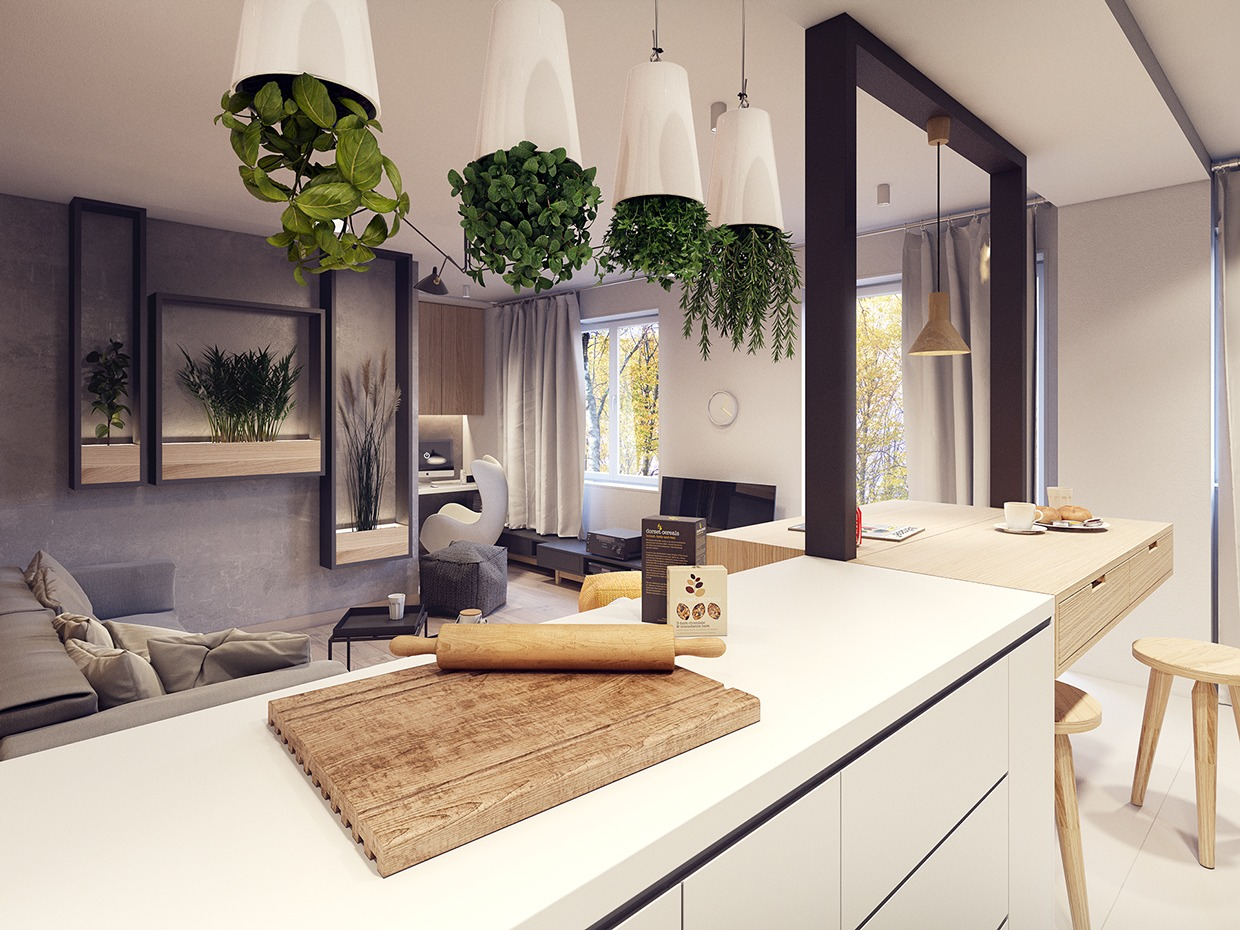 A 60sInspired Apartment with a Creative Layout and Upbeat Vibe