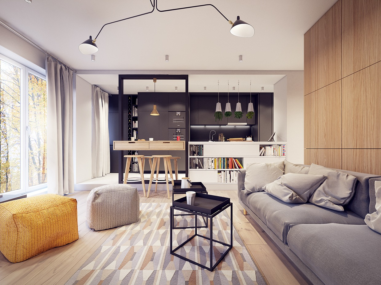 A 60sInspired Apartment with a Creative Layout and Upbeat