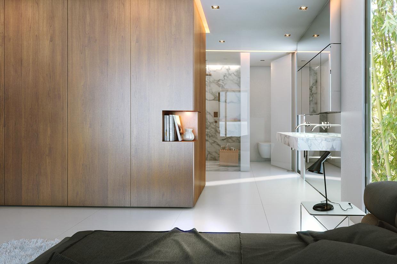 dark gray chair kids tv three luxury homes in cool, neutral tones