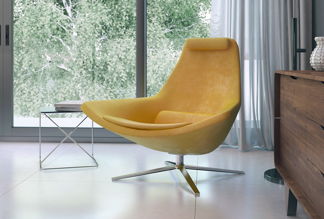 Yellow Egg Chair Three Luxury Homes In Cool Neutral Tones