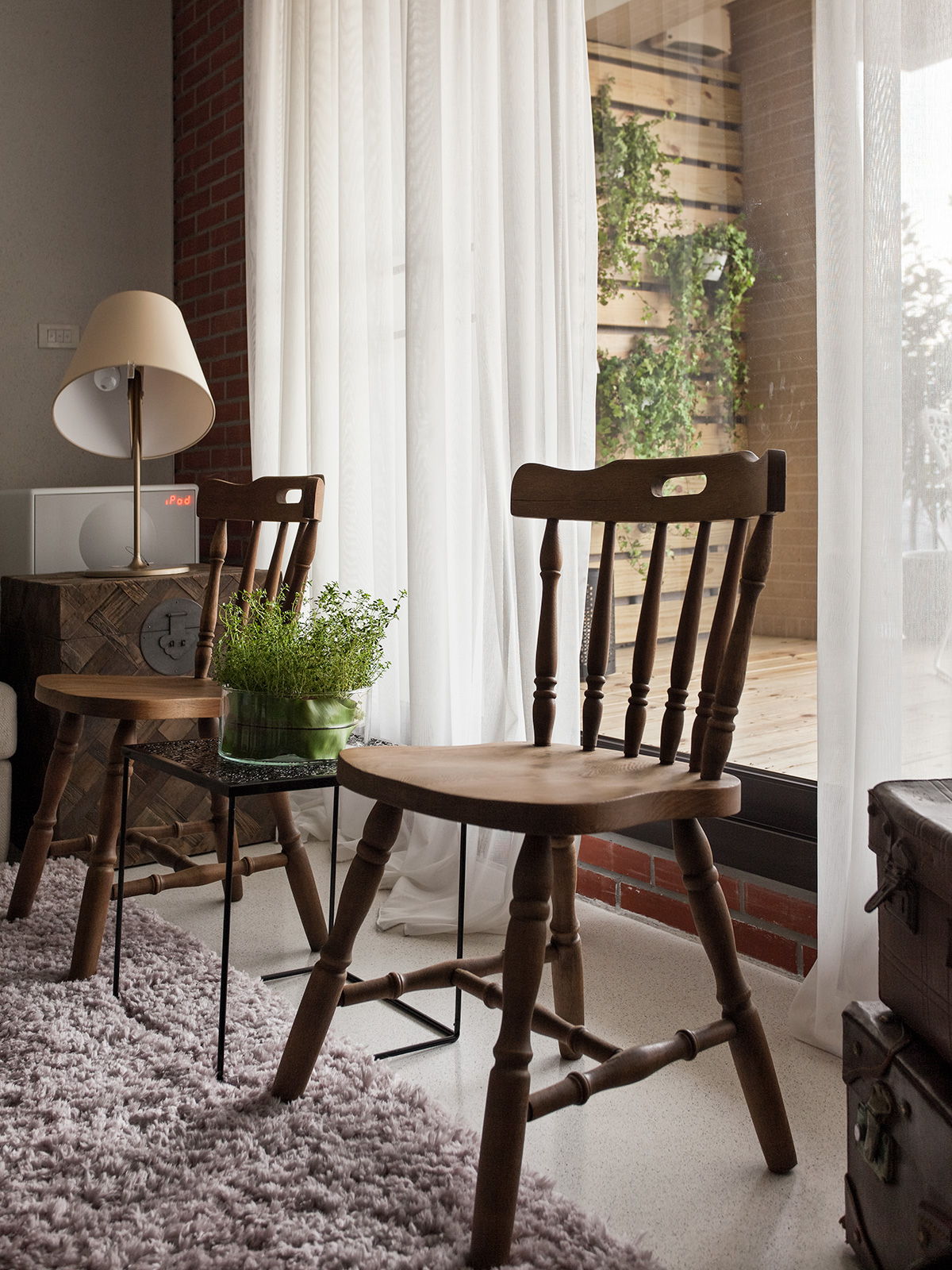 Antique Chairs In Front Of Window Interior Design Ideas