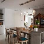 Contemporary Light Fixtures In Rustic Dining Roominterior Design Ideas