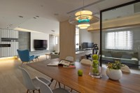 View of Dining Area, Study, and Living Room | Interior ...