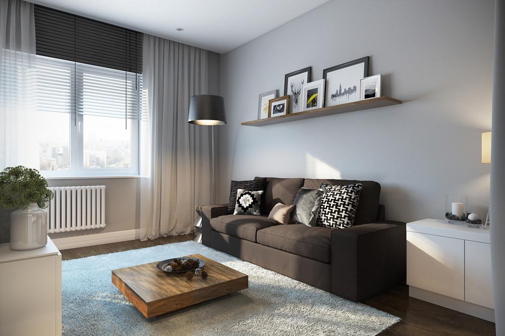 area rug in small living room tv shelves design soft interior ideas