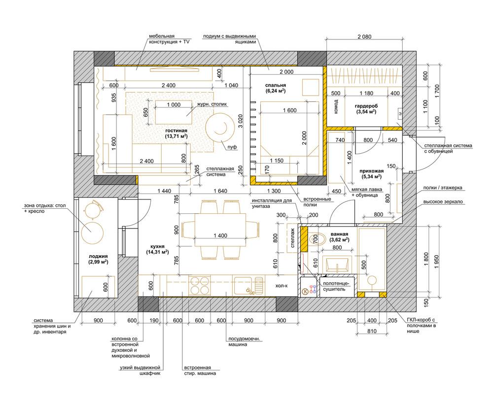 studioapartmentlayout  Interior Design Ideas