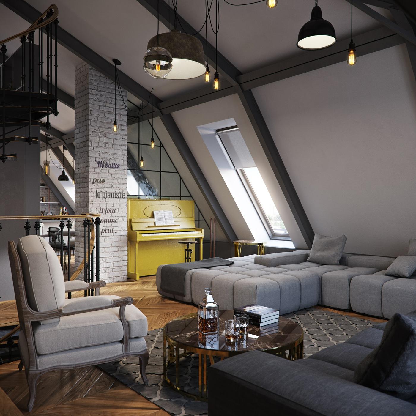 Loft Interior Design Ideas Part 2