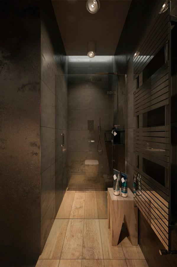 Industrial Modern Bathroom Design