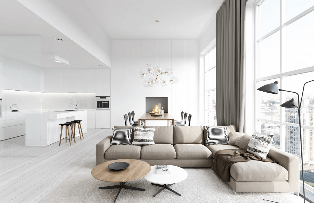 25 Modern Living Rooms with Cool Clean Lines