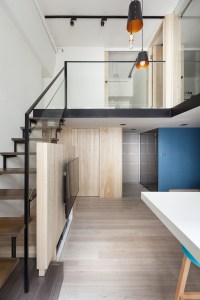 Loft Staircase in Modern Apartment | Interior Design Ideas.