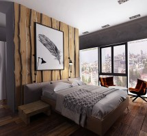 Rustic Wood Walls Bedroom Ideas