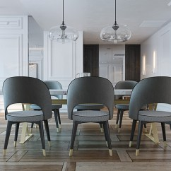 Gray Dining Chair Reclining Outdoor Chairs Canada A Miami Apartment In Stormy Muted Tones